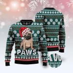 Pug Paws - Christmas Wool Sweater
