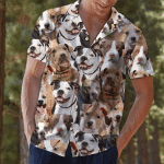 American Pitbull Terrier Hawaii Shirt S