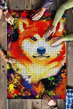 Akitas Dog Colorful Jigsaw Puzzles 21 X 15 - 500 Pieces All Products