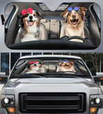 Australia Shepherd Couple Car Sunshade 57 X 27.5