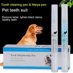 Pets Dogs Teeth Dental Calculus Stones Remover Toothbrush Cleaning Kit 2Pcs 5Ml/2Ml Vj-Drop