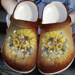 Hippie Bee & Sunflower Croc Clog