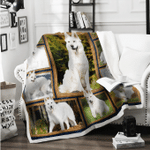 German Shepherd White Blanket X - Large ( 80 X 60 Inches / 200 150 Cm) All Products