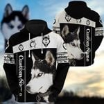 Husky Customize 3D All Over Printed Hoodie