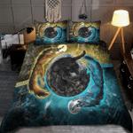 Viking Wolves Sun And Moon Bedding Set