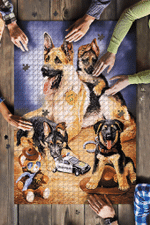 German Shepherd Family Jigsaw Puzzle