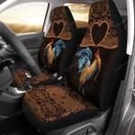 Rooster Mandala Car Seat Cover