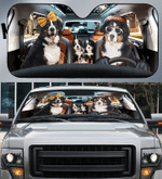 Bernese Mountain Family V2 Car Sunshade 57 X 27.5