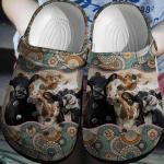 Mandala Cows Crocbland Clog