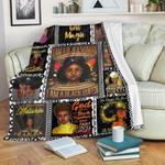 I Am A Black Woman Fleece Blanket