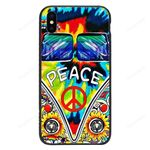 Custom Glass Phone Case Cover Peace Iphone / X Collection
