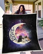 Pug To The Moon Blanket X - Large ( 80 X 60 Inches / 200 150 Cm) All Products