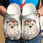 Hedgehog Floral Croc Shoes