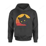 Cat Gift Idea Vintage Eighties Style Retro Distressed Design T-Shirt - Standard Hoodie S / Black