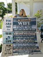 To My Wife - You are my love - Quilt & Fleece Blanket