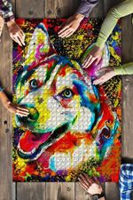 Husky Colorful Jigsaw Puzzle