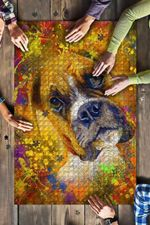 Boxer Dog Colorful Jigsaw Puzzles 21 X 15 - 500 Pieces All Products
