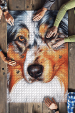 Australian Shepherd Aussie Dog Art Jigsaw Puzzles 21 X 15 - 500 Pieces All Products