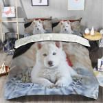 White Husky V2 Bedding Set Us Twin