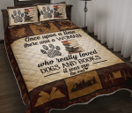 Once Upon A Time - Dogs And Books Quilt Bedding Set Twin