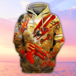 Amazing Airplanes All Over Printed Hoodie