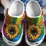 Hippie Sunflower Croc Clog