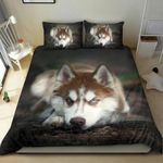 Red Husky Bedding Set