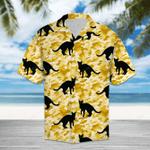 Black Cat Camo - Hawaii Shirt S