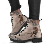 T-rex Mandala Leather Boots