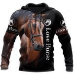 Love Horse 3D Hoodie / S