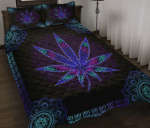 Hippie - Purple Leaf Quilt Bed Set Twin