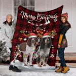 English Springer Christmas Fleece Blanket
