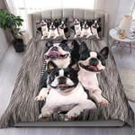 Boston Terrier Zipper Bedding Set Us Twin