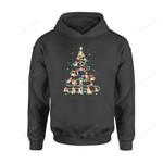 Dog Christmas Gift Idea Xmas Tree Funny Lover T-Shirt - Standard Hoodie S / Black Dreamship