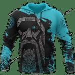 Viking Odin - Wotan Special Blue Hoodie