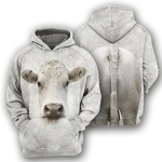 Charolais Cattle - 3D All Over Printed Hoodie