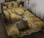 Amazing Deer V1 Quilt Bed Set Twin