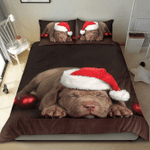 Pit Bull Christmas Bedding Set