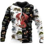 Love Dragon 3D All Over Printed Hoodie