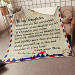 To My Daughter - Braver & Stronger - Fleece Blanket