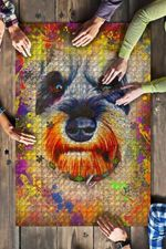 Miniature Schnauzer Dog Colorful Jigsaw Puzzles 21 X 15 - 500 Pieces All Products