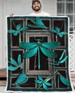 Dragonfly 3D Fleece Blanket