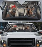 Elk Couple Car Sunshade 57 X 27.5