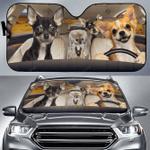 Chihuahua Family V3 Car Sunshade 57 X 27.5