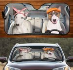 Bull Terrier Couple Car Sunshade 57 X 27.5