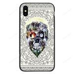 Custom Glass Phone Case Cover Skull Iphone / X Collection