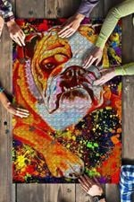 American Bulldog Dog Colorful Jigsaw Puzzles 21 X 15 - 500 Pieces All Products