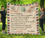 To My Daughter - I'm always with you - Love, Mom Quilt Blanket