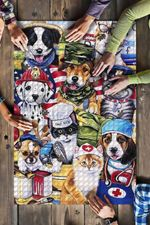 Cute Dogs And Cats Firefighter Nurse Chef Farmer Police Job Jigsaw Puzzles 21 X 15 - 500 Pieces All