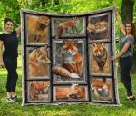 Fox 3D Quilt Blanket